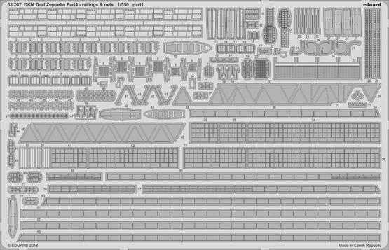 DKM Graf Zeppelin railings & nets  pt.4 1/350  - 1