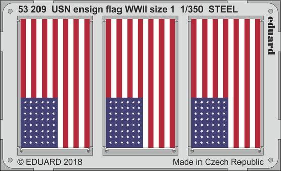 USN ensign flag WWII size 1 STEEL 1/350