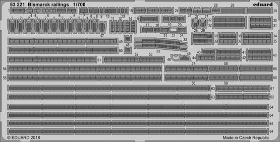Bismarck zábradlí 1/700