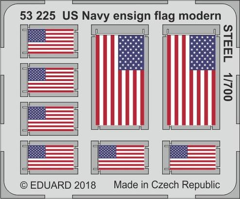 US Navy ensign flag modern STEEL 1/700