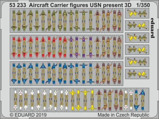 Aircraft Carrier figures USN present 3D 1/350
