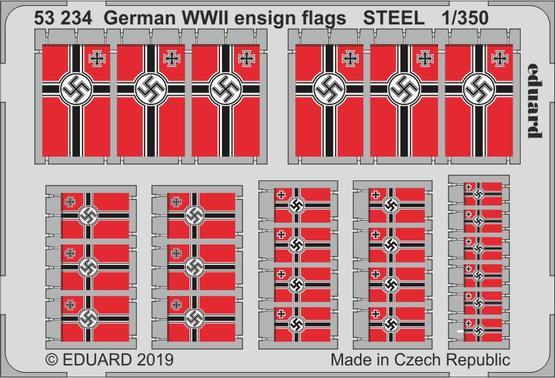 German WWII ensign flags STEEL 1/350