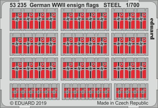 ドイツ海軍旗 WWII スチール製 1/700