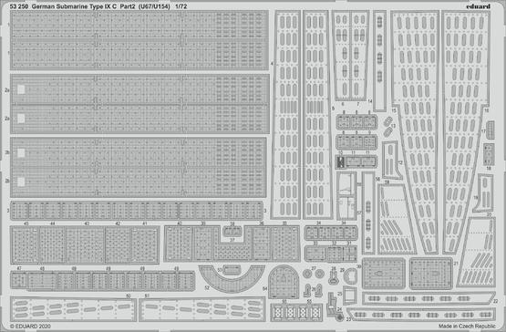 German Submarine Type IX C part 2 (U67/U154) 1/72
