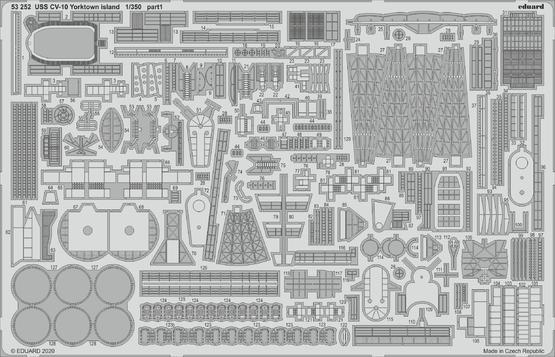 USS CV-10 Yorktown island 1/350  - 1