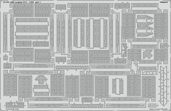 USS Langley CV-1 1/350  - 1