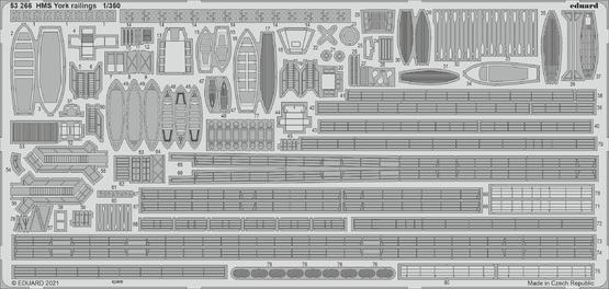 HMS York railings 1/350