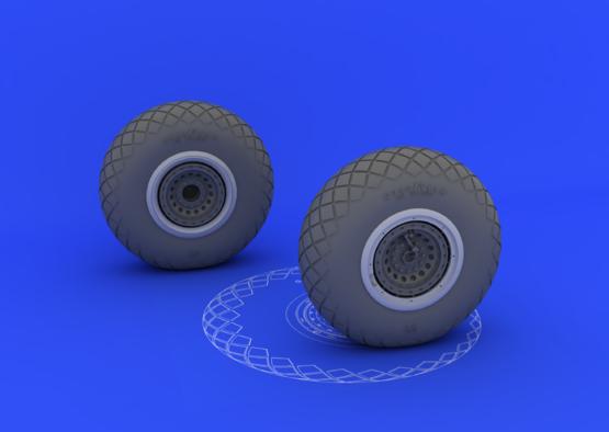 B-17 wheels 1/32  - 1