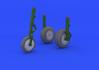 Me 262 wheels 1/32 - 1/4