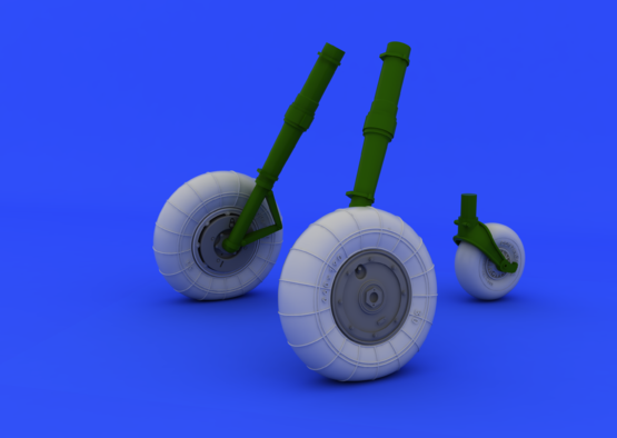 Bf 109G-10 wheels 1/32  - 1