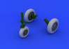 F-104 undercarriage wheels early  1/32 1/32 - 1/5