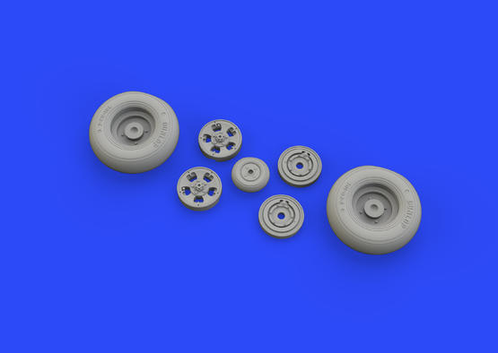 Spitfire Mk.IX wheels 5spoke w/smooth tire 1/32  - 1