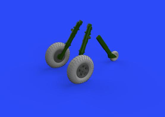 Spitfire Mk.IX wheels 5spoke w/pattern 1/32  - 1