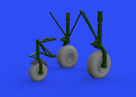 B-24 wheels (8spoke front wheel) 1/32  - 1