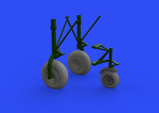 B-24 wheels (9spoke front wheel) 1/32  - 1