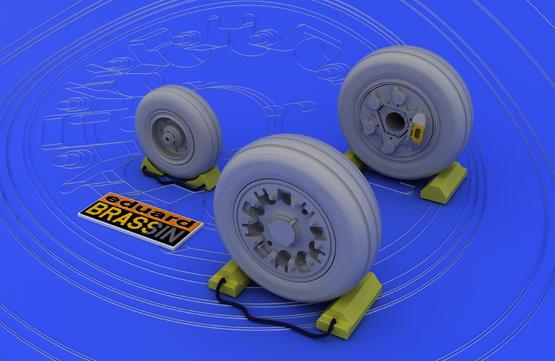 F-16A/B wheels 1/48  - 1