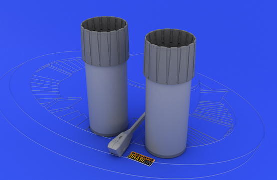 F-4 exhaust nozzles late  1/48 1/48  - 1