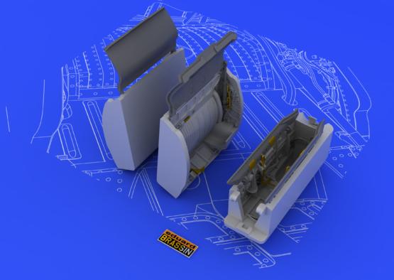 MiG-21 podvozkové šachty 1/48  - 1