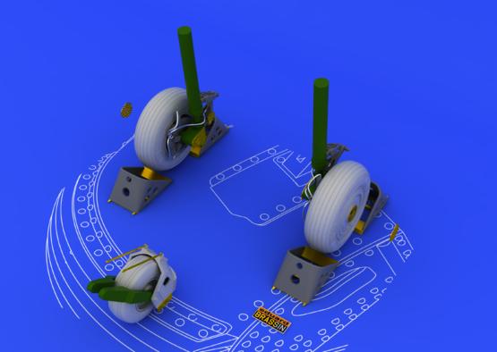 Su-27 wheels 1/48  - 1