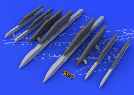 Su-25K wing pylons 1/48  - 1