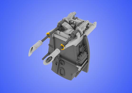 Bf 109E MG 17 mount 1/48