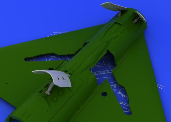 MiG-21 brzdící štíty pozdní verze 1/48  - 1