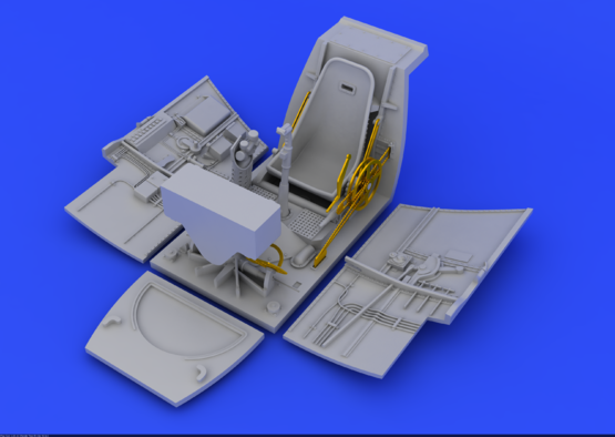 Bf 109E кабина и радиостанция 1/48  - 1