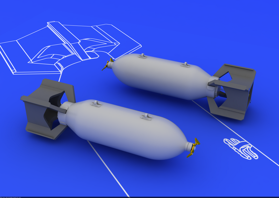 US 250lb bombs (2 pcs) 1/48  - 1