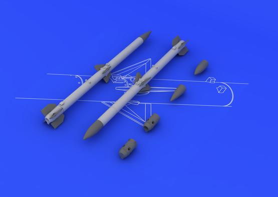 AIM-120C AMRAAM (2pcs) 1/48  - 1