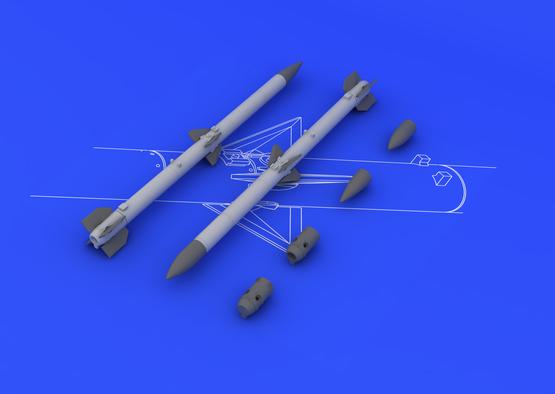 AIM-120C アムラーム(2個入り) 1/48  - 1