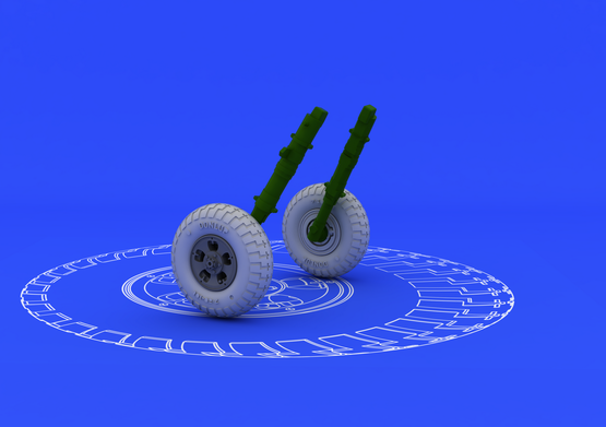 Spitfire wheels - 5 spoke 1/48  - 1