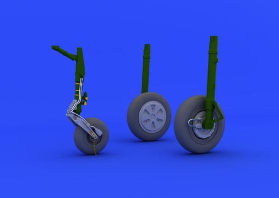 МиГ-21ПФМ колеса 1/48  - 1