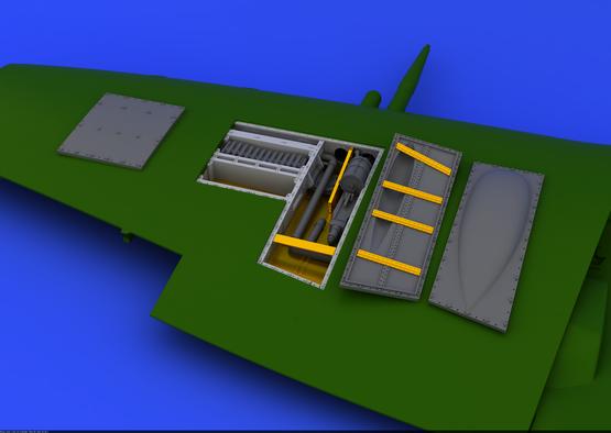 Spitfire Mk.IX zbraňová šachta 1/48  - 1
