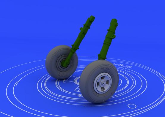Spitfire wheels - 4 spoke 1/48  - 1