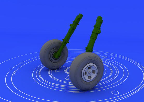 Spitfire колеса - 4-спицевые 1/48  - 1