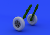 Spitfire wheels - 5 spoke, smooth tire 1/48 - 1/4