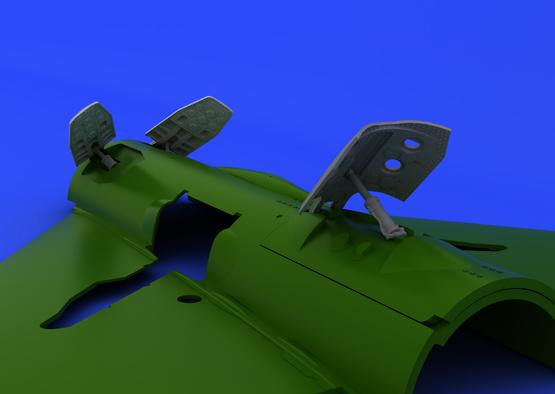 MiG-21PF/PFM/R brzdící štíty 1/48  - 1