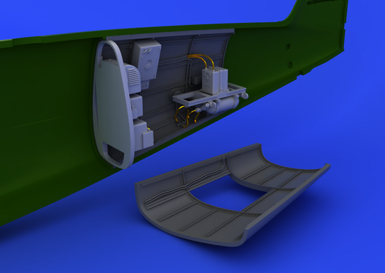 Bf 109G radio compartment 1/48  - 1