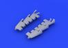 Spitfire Mk.V exhaust stacks fishtail 1/48 - 1/4