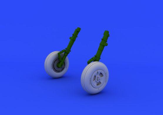 Spitfire Mk.XVI wheels - 3 spoke 1/48  - 1