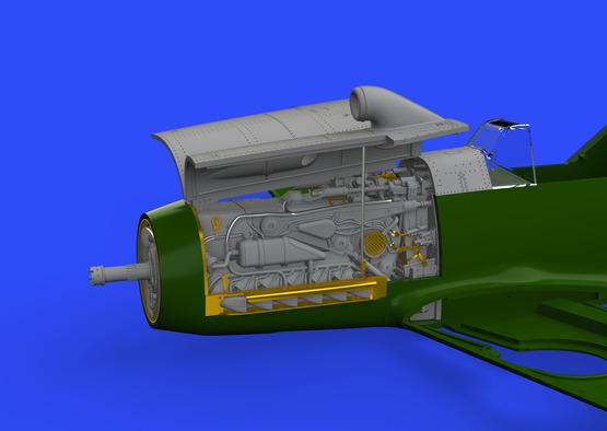 Bf 109F двигатель и фюзеляжное вооружение 1/48  - 1
