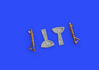 Bf 109F undercarriage legs BRONZE 1/48 - 1/4