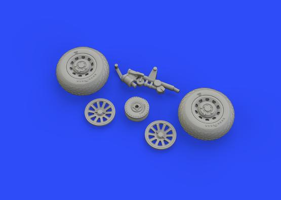 P-51D wheels 1/48  - 1