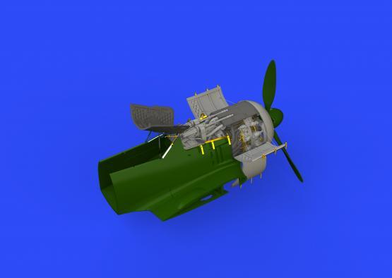 Fw 190A-4 двигатель и фюзеляжные пулемёты 1/48  - 1