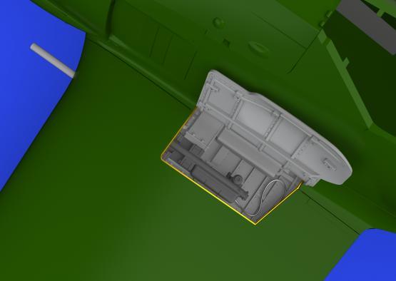 Fw 190A zbraňové šachty v kořenu křídla 1/48  - 1