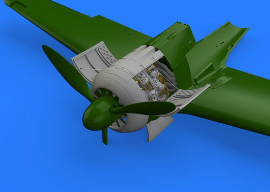 Fw 190A-3 двигатель 1/48  - 1