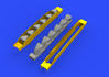 Bf 109G-6 exhaust stacks 1/48 - 1/3