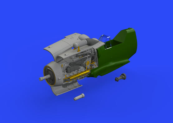 Bf 109G-6 engine 1/48  - 1
