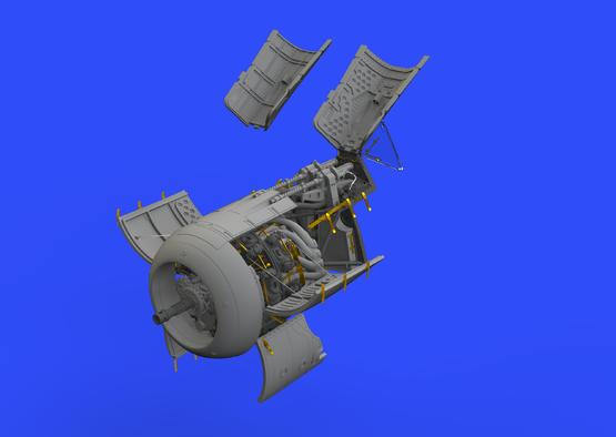 Fw 190A-5 двигатель и фюзеляжное вооружение 1/48  - 1