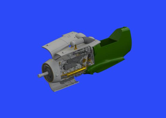 Bf 109G-6/U4 engine 1/48  - 1